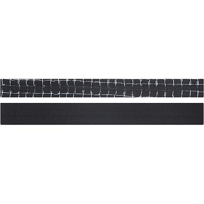Black and Square Print No-Slip Head Wrap