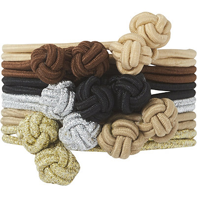 Scünci Multi-Color Knotted Elastic Scrunchies