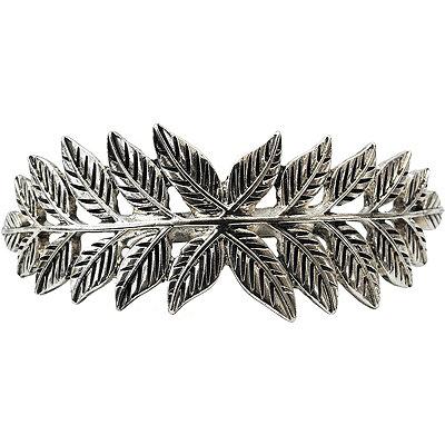KitschSilver Leaf Bun Pin