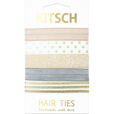 Kitsch Petal Peach Knotted Hair Ties