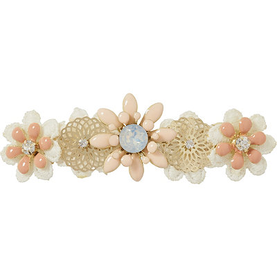 ScünciFlower Jeweled Spring Barrette