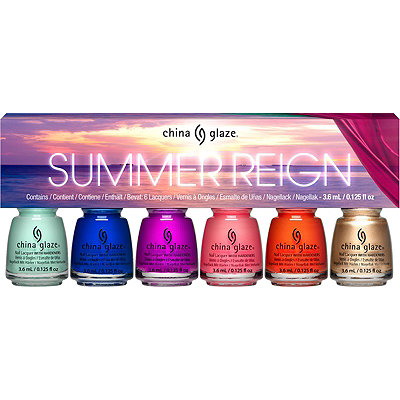 China Glaze Online Only Summer Reign 6 Pc Micro Mini Kit