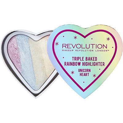 Makeup Revolution Triple Baked Rainbow Highlighter