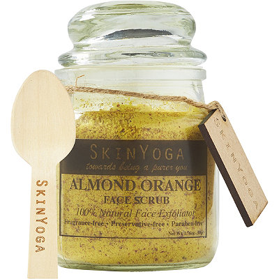 SkinYogaOnline Only Almond Orange Face Scrub
