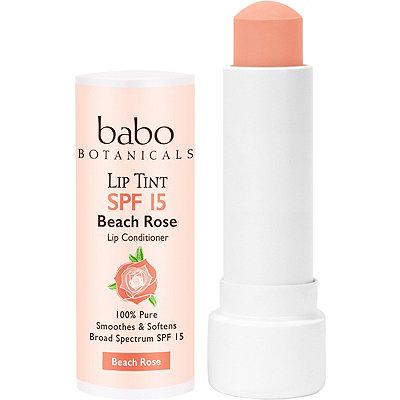 Babo BotanicalsSheer Lip Tint Conditioner SPF 15 Beach Rose Mineral Sunscreen Lip Balm