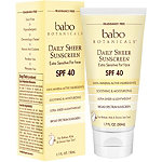 Babo Botanicals Online Only Daily Sheer Non-Nano Zinc SPF 40 Fragrance Free Mineral Sunscreen