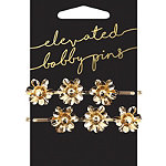 Bird and Floral Pearl Charm Bobby Pins