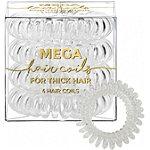 Mega Hair Coils in Black %26 Clear