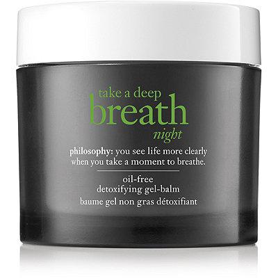 PhilosophyOnline Only Take A Deep Breath Night Oil-Free Detoxifying Gel-Balm