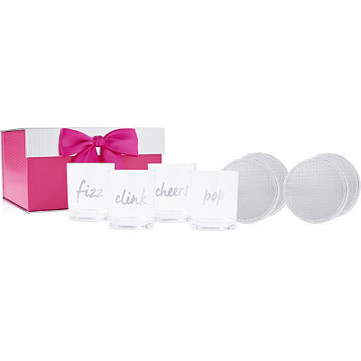 ULTAFREE 4 Tumblers and Coasters in a Gift Box w%2Fany %2440 Fragrance purchase