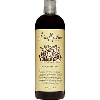SheaMoistureJamaican Black Castor Oil Moisture Retention Bubble Bath Body Wash