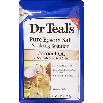 Dr. Teals Pure Epsom Salt Soaking Solution with Coconut Oil