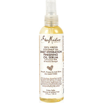 SheaMoisture 100%25 Virgin Coconut Oil Daily Hydration Finishing Oil Serum