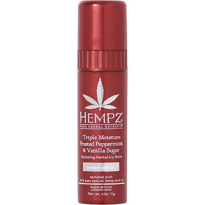 HempzFrosted Peppermint %26 Vanilla Sugar Hydrating Herbal Lip Balm
