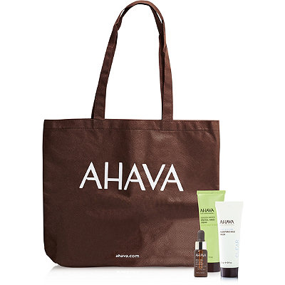 AhavaOnline Only FREE 3 pc Gift with Tote w%2F any %2435 Ahava purchase