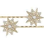 Gold Star Bobby Pins w%2F Rhinestones
