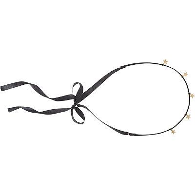 ScünciBlack Headwrap %2F Choker w%2F Gold Stars