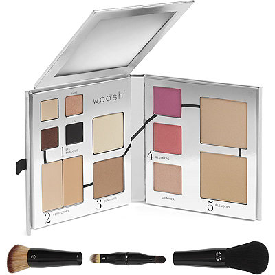Woosh BeautyThe Fold Out Face w%2FSecret Brush Set - Complete Daily Makeup Routine