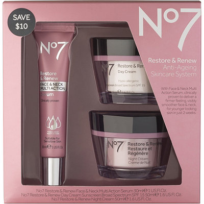 No7 Restore %26 Renew Face %26 Neck Multi-Action Skincare System