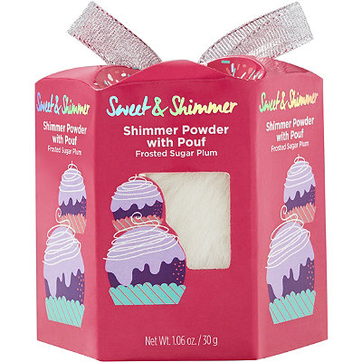Sweet & Shimmer Body Shimmer with Pouf