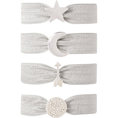 Kitsch Silver Star Charm Hair Ties