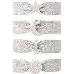 Silver Star Charm Hair Ties