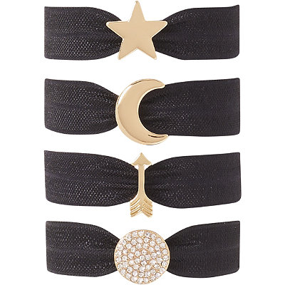 Kitsch Black Star Charm Hair Ties