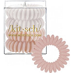 Kitsch Nude Hair Tie Bobble 4 Pc