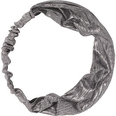 KitschSilver Metallic Fabric Headband
