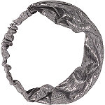 Silver Metallic Fabric Headband