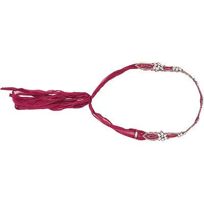 Pink PewterFuchsia Ribbon Headwrap w%2F Rhinestones