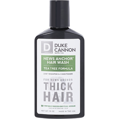 Duke Cannon Supply CoOnline Only News Anchor 2 in 1 Hair Wash Tea Tree Formula