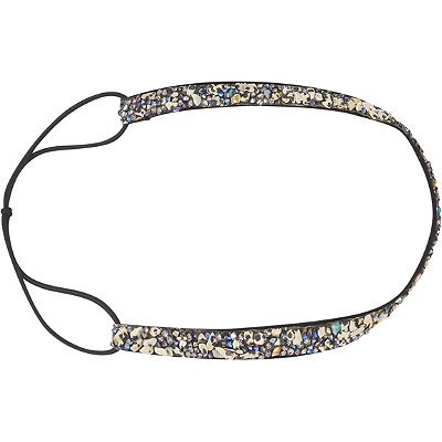 ScünciHeadbands of Hope Black with Multi Colored Stones Headwrap