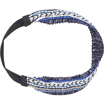 Scünci Headbands of Hope Multi Blue Colored Ribbon Textured Headwrap