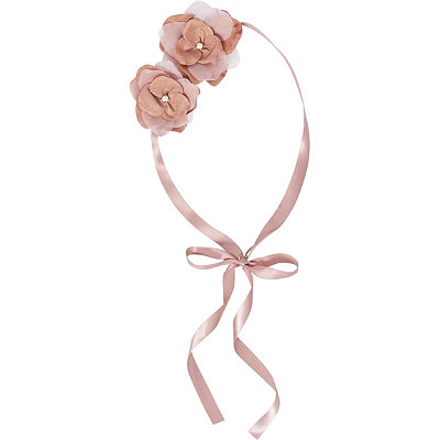 Scünci Headbands of Hope Blush Flower Headwrap