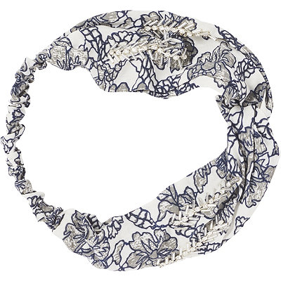 Scünci Headbands of Hope Multi Blue Floral Print Headwrap