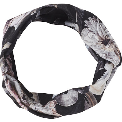ScünciHeadbands of Hope Black Multi Floral Print Styled Headwrap