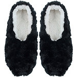 Black Faux Bunny Pull On