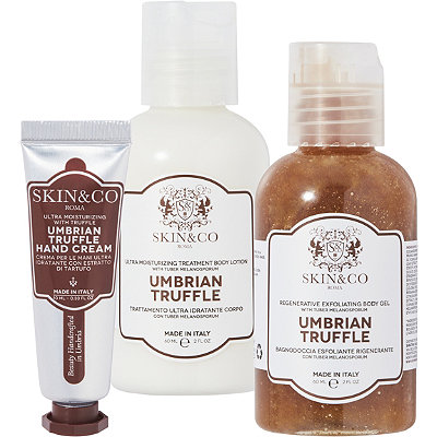 SKIN&COOnline Only FREE deluxe Umbrian Truffle Trio w%2Fany %2450 Skin%26Co. purchase