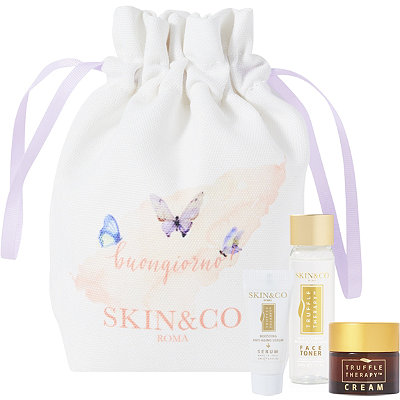 SKIN&COOnline Only%21 FREE Skincare Trio Bag w%2Fany %2460 Skin and Co. purchase