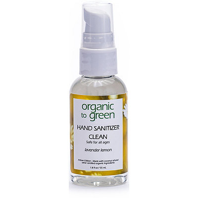 Organic to Green Online Only Travel Size CLEAN Hand Sanitizer - Lavender Lemon
