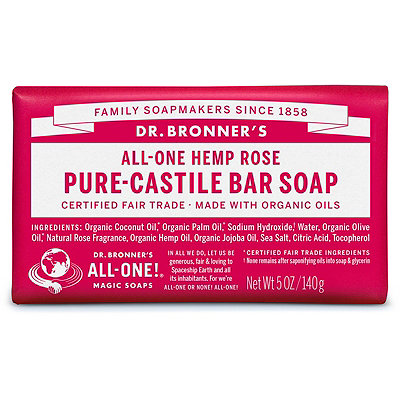 Dr. Bronner'sRose Pure-Castile Bar Soap