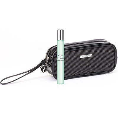 Giorgio Armani Online Only FREE Cosmetic Pouch with Rollerball w%2Fany large spray Giorgio Armani Acqua di Gioia purchase
