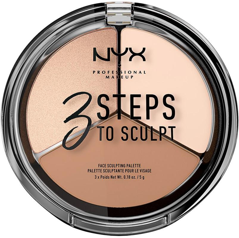 NYX Professional Makeup 3 Steps to Sculpt Face Sculpting Palette