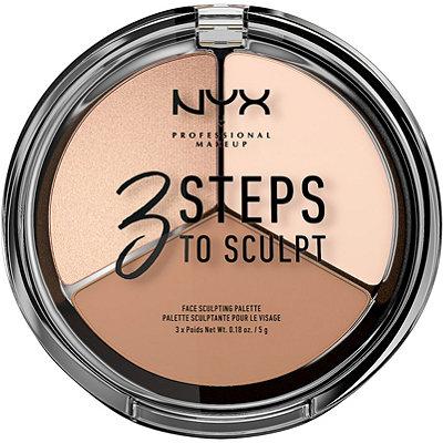 NYX Professional Makeup3 Steps to Sculpt Face Sculpting Palette