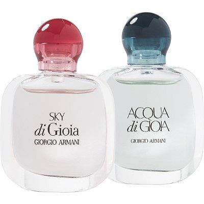 Online OnlyFREE! Giorgio Armani deluxe mini of Acqua di Gioia and Sky di Gioia with any $40 purchase
