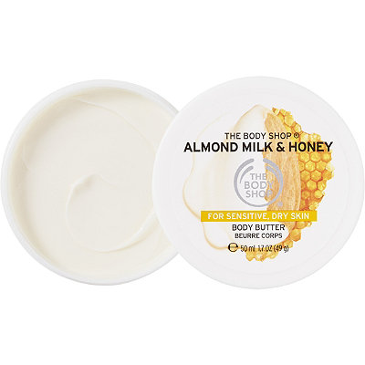 The Body Shop Travel Size Almond Milk %26 Honey Soothing %26 Restoring Body Butter