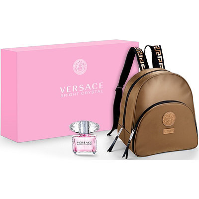 VersaceOnline Only Bright Crystal and Summer Backpack Set