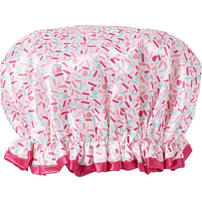 Sweet & Shimmer Shower Cap