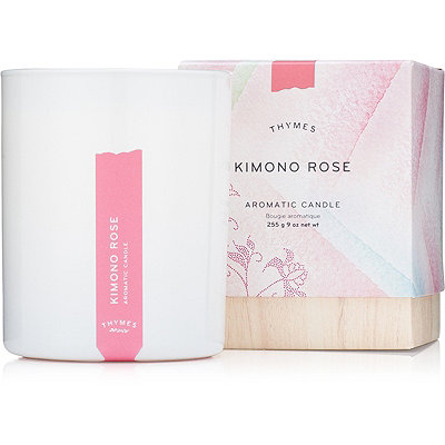 Thymes Kimono Rose Aromatic Candle
